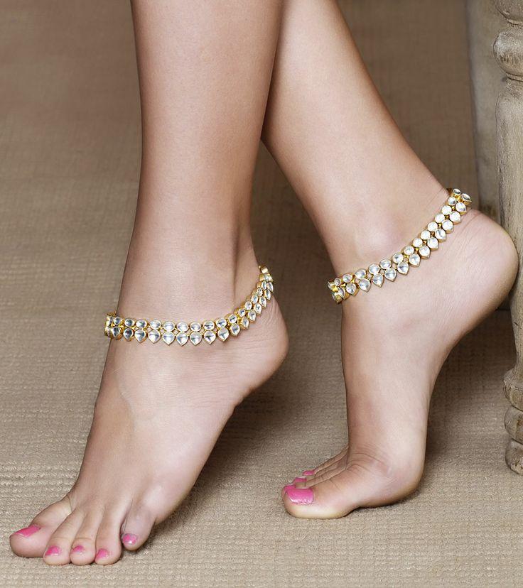 Kundan Embellished Anklets