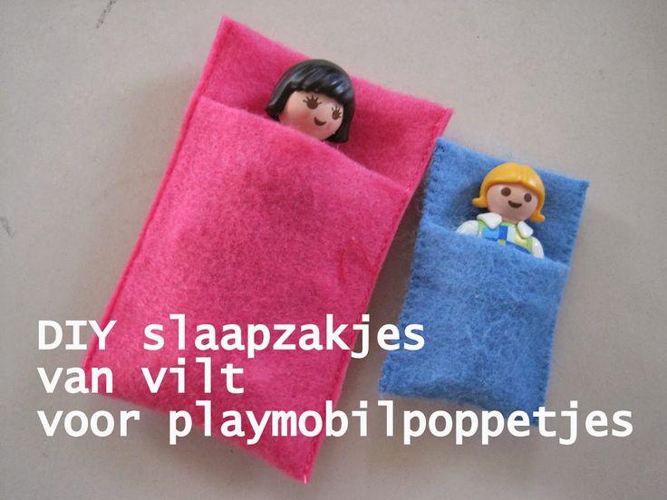 Diy slaapzakjes voor playmobil poppetjes - Effie maakt