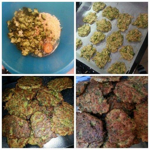 Broccoli ei snack  500 gr broccoli geraspte kaas paneermeel 3 eieren