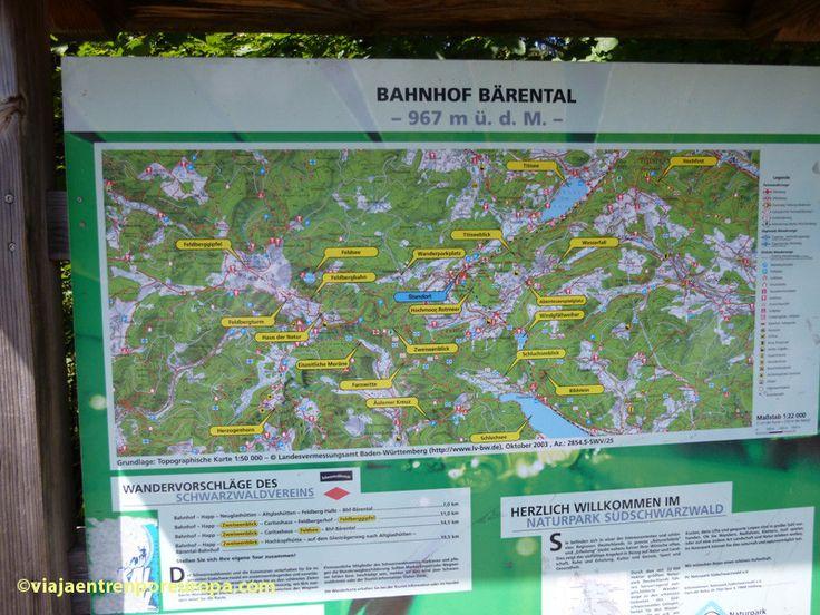 Mapa del Parque Natural de la Selva Negra Sur en la estación de Feldberg-Bärental