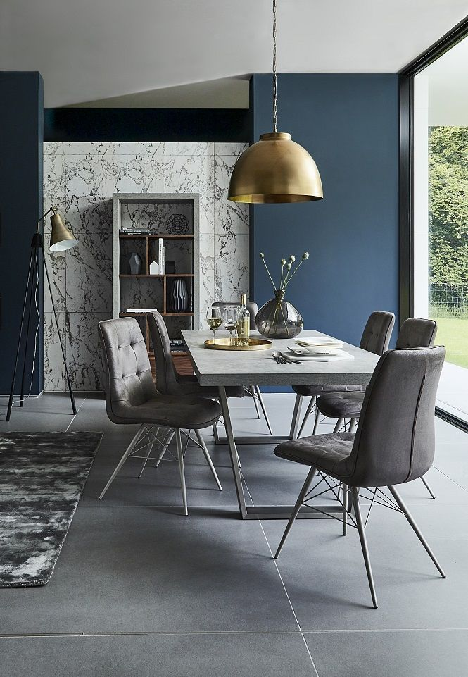 Get a modern minimalist look in your dining room with the contemporary halmstad dining table