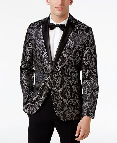 a068f4bd6987 INC International Concepts Men's Slim-Fit Jacquard Blazer, Created for  Macy's