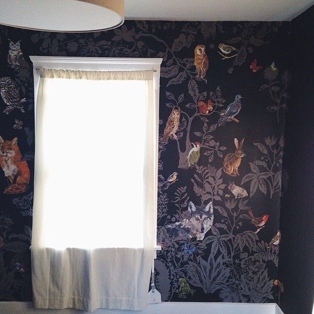 wallpaper, woodland critters from #smallable online