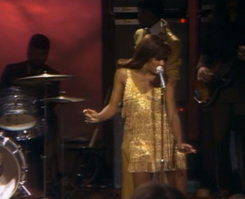 "twixnmix:  "" Ike and Tina Turner on Playboy After Dark, December 1969.  30-year-old Tina Turner performing with Ike Turner and The Ikettes at Hugh Hefner's Playboy Penthouse with a 4 songs showcase and an interview with Hefner. They performed I Want To..."