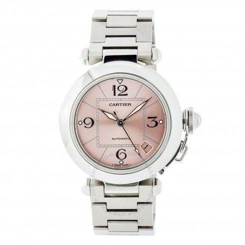 Pre-owned Cartier Pasha de Cartier Automatic Pink Dial Men's Watch 2324