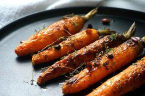 cenoura assada com tomilho, limão e amêndoas – Francinha Cooks