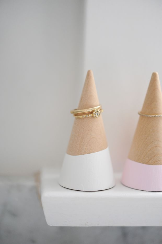 DIY Ring Cones with paint from #marthastewartcrafts | See more about Diy Rings, Rings and DIY.