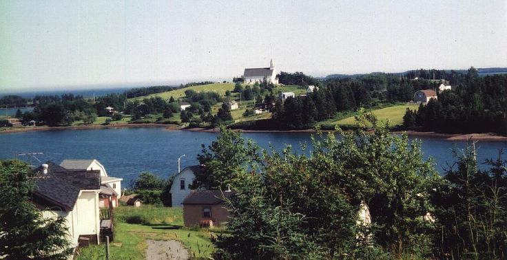 Beautiful view of Church Point, River Bourgeois, Cape Breton, Nova Scotia