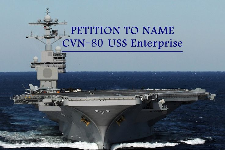 On 1 December 2012, during the presentation of a pre-recorded speech at the inactivation ceremony for Enterprise (CVN-65), U.S. Secretary of the Navy Ray Mabus announced that CVN-80 would be named Enterprise. She will be the ninth ship and the third aircraft carrier in the history of the United States Navy to bear the name.