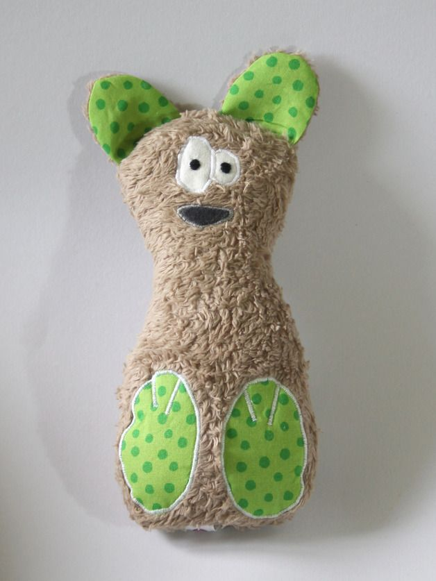 """Kuscheltiere - Plüschbär """"Beppo Bär"""" Bioplüsch braun - ein Designerstück von coccoloso bei DaWanda"""
