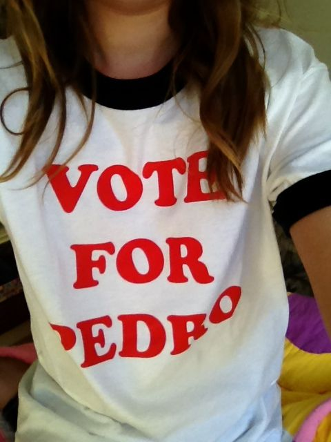 Awesome vote for pedro shirt!