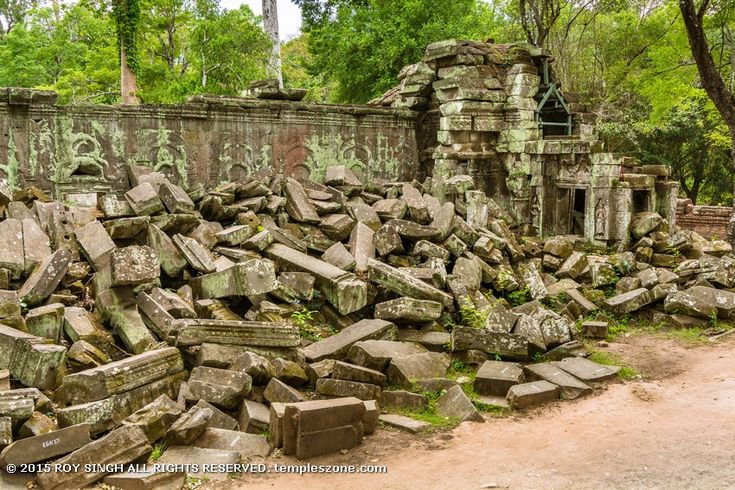 Ta Prohm templeis the modern name of the temple atAngkor,Siem Reap Province,Cambodia, built in theBayonstyle largely in the late 12th and early 13th centuries and originally calledRajavihara. Located approximately one kilometer east ofAngkor Thomand on the southern edge of theEast Baray.