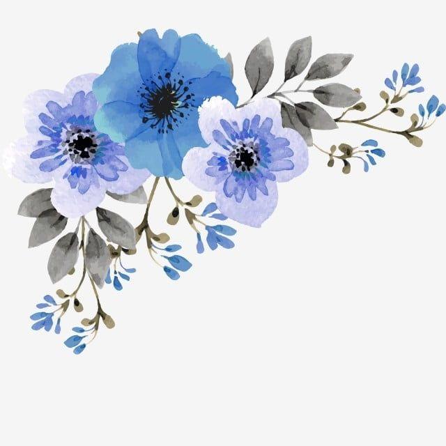 Niebieski Kwiatek Flower Drawing Blue Flower Art Blue Flower Png