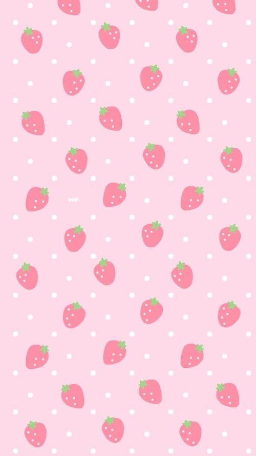 strawberry patch strawberry pastel kawaii wallpaper
