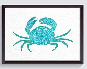 Pintura cangrejo Jaiva de impresión por ArtByAlexandraNicole