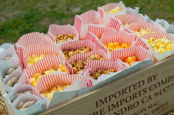 popcorn in carnival bags (photo by tammy labar photography via emmaline bride)