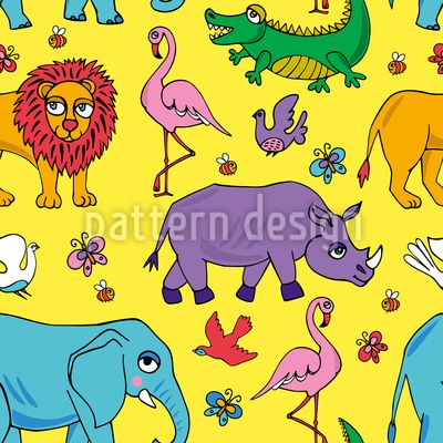 Animals of Africa - Pattern with african animals. Enjoy a fabulous safari.