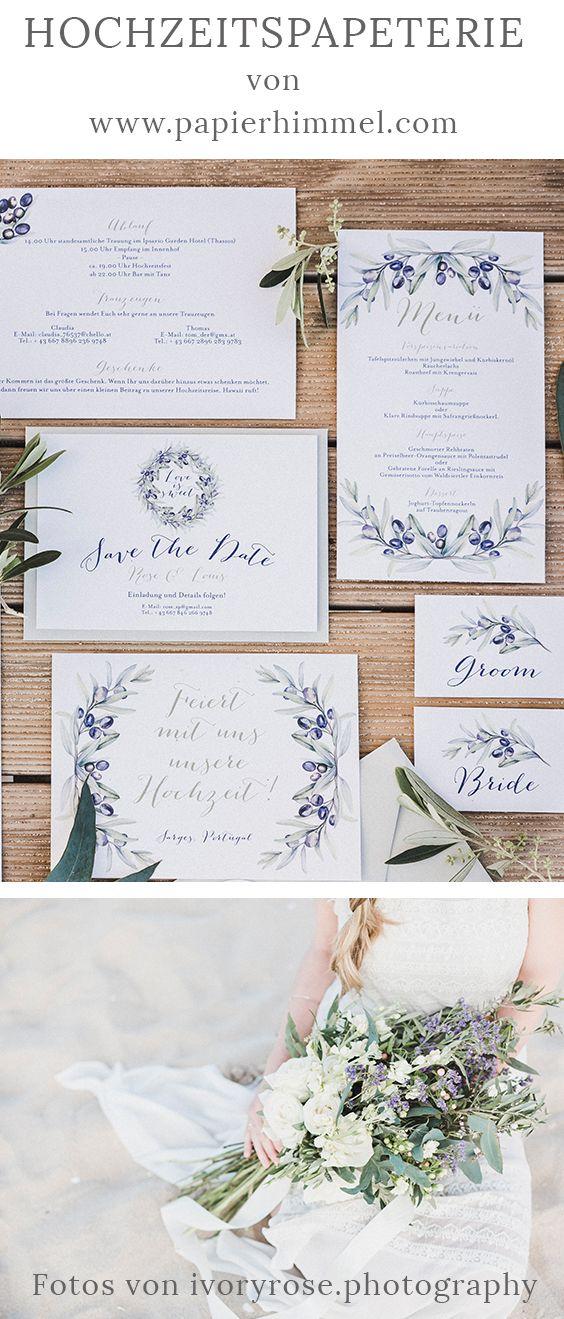 Wunderschone Hochzeitspapeterie Von Www Papierhimmel Com Hochzeit