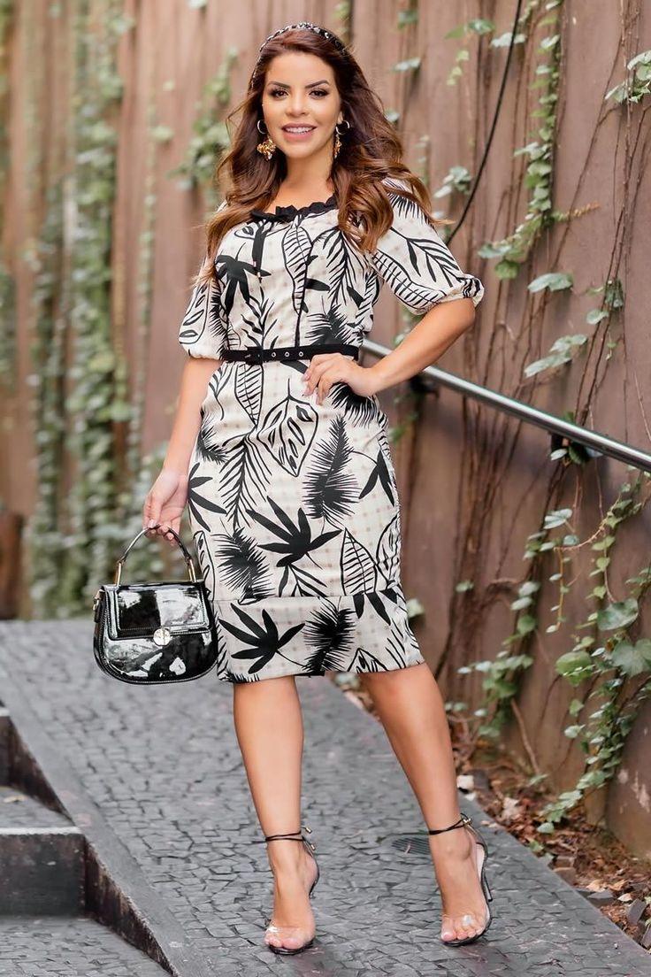 Lançamentos - Kauly Moda Evangélica | Vestidos, Vestidos estampados, Vestido para trabalho
