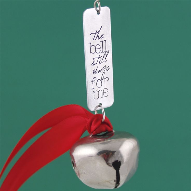 Polar Express Christmas Ornament - The Bell Still Rings For Me - Spiffing Jewelry
