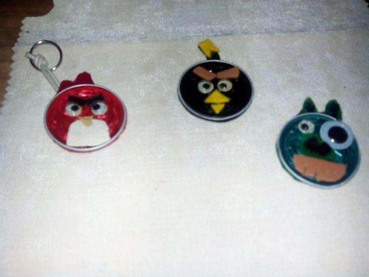 Clauers e imans de nevera d'Angry Birds, amb Capsules Nespresso