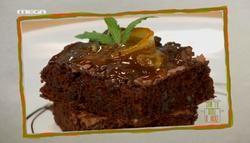 Cake σοκολάτας χωρίς αλεύρι και σπιτική μαρμελάδα