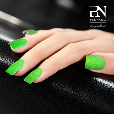 Neons are still hot! Go for green and #fluffstopuff from #ProNails.