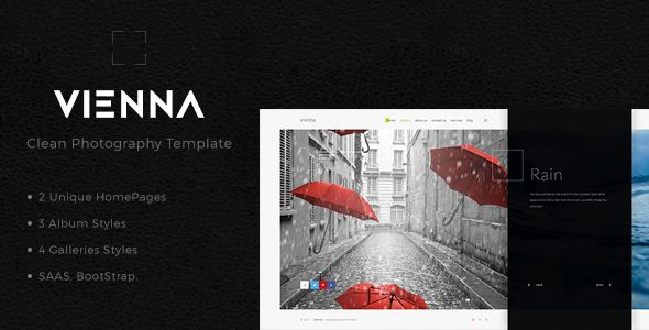 Vienna - Unique Photography Template
