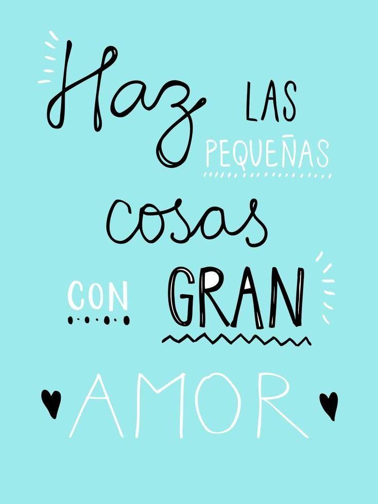 Tarea para hoy #Jueves hacer las pequeñas cosas con gran amor♥