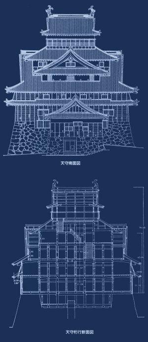 Japanese Castle blueprints
