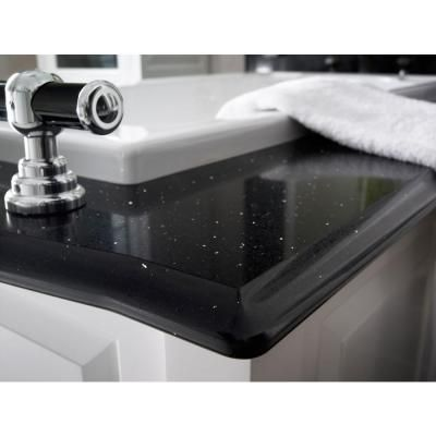 Web Image Gallery Quartz Countertop Sample in Stellar Night Stellar Night Polished