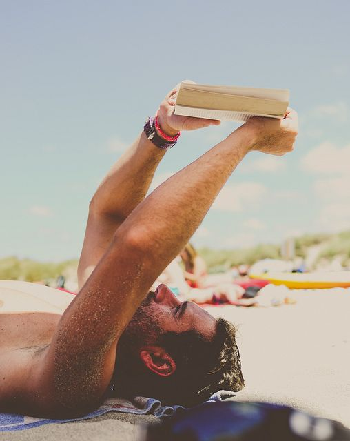 On the beach reading - Oh to be there!