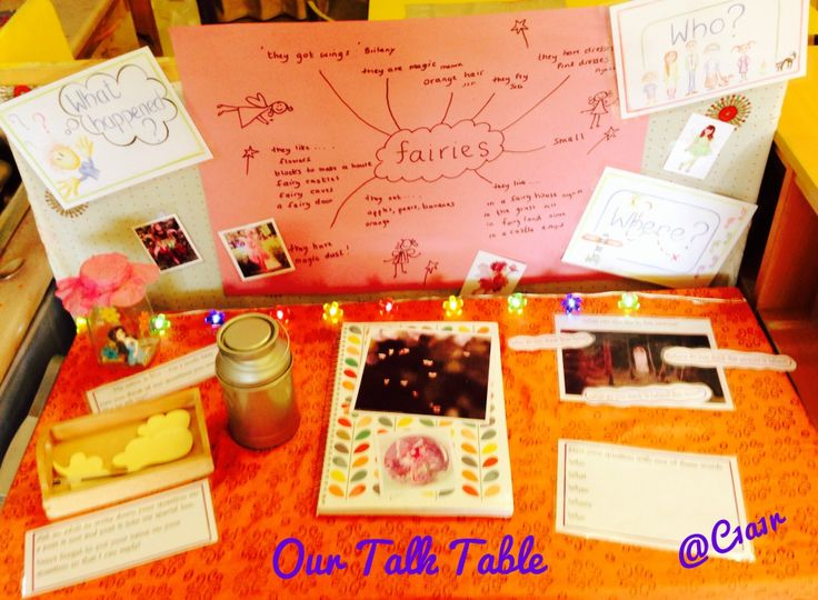 Our FS1 fairy talk table!