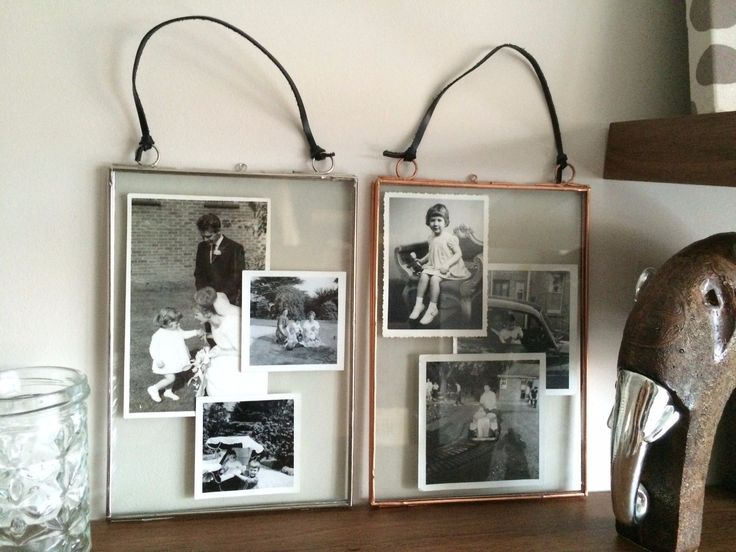 """Metal Edge & Glass Hanging Photo Frame Vintage Portrait Silver or Copper 8""""x 6"""" in Home, Furniture & DIY, Home Decor, Photo & Picture Frames 