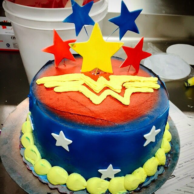 Superman Whipped Icing Cake