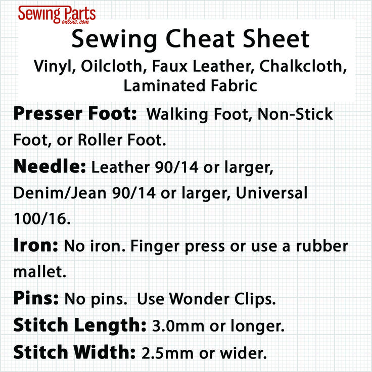 How to Sew Vinyl, Faux Leather, and Oilcloth - Sewing Parts Online - Everything Sewing, Delivered Quickly To Your Door