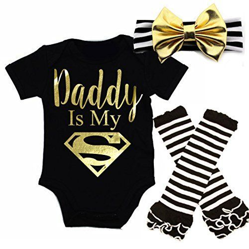 G&G - Cute Baby Girl Daddy Is My Superman Outfits With Ma... www.amazon.com/...