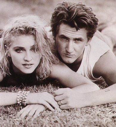 When Madonna & Sean Penn were married in the 80's.