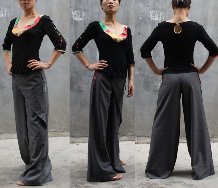 Bell fond pantalons - pantalon chez lizi - Sarouels - Pantalons - DaWanda