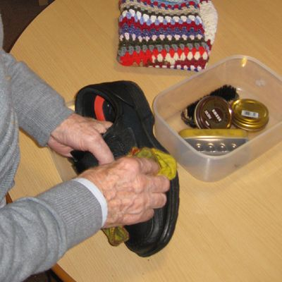 shoe polishing, dementia alzheimers activity