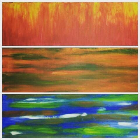 4 elements ^fire ^earth ^water and air is everywhere :-) #4elements #4elementos #water #fire #earth #air #painting #abstract #acrylic #loveearth #loveart
