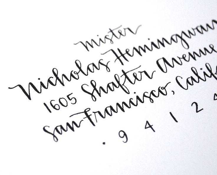 Custom Envelope Addressing . Handwritten Calligraphy . Modern Wedding . Single Sample. $4.00, via Etsy.