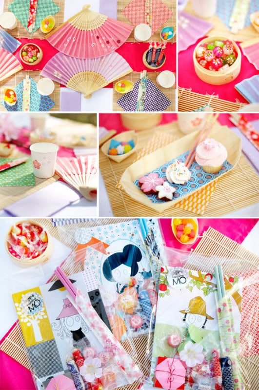 Japanese tea party: serve japanese food (I'm thinking homemade sushis, mochi cakes, matcha delicacies!), decorate with paper lanterns, bamboo steam baskets, pretty paper fans, origami...