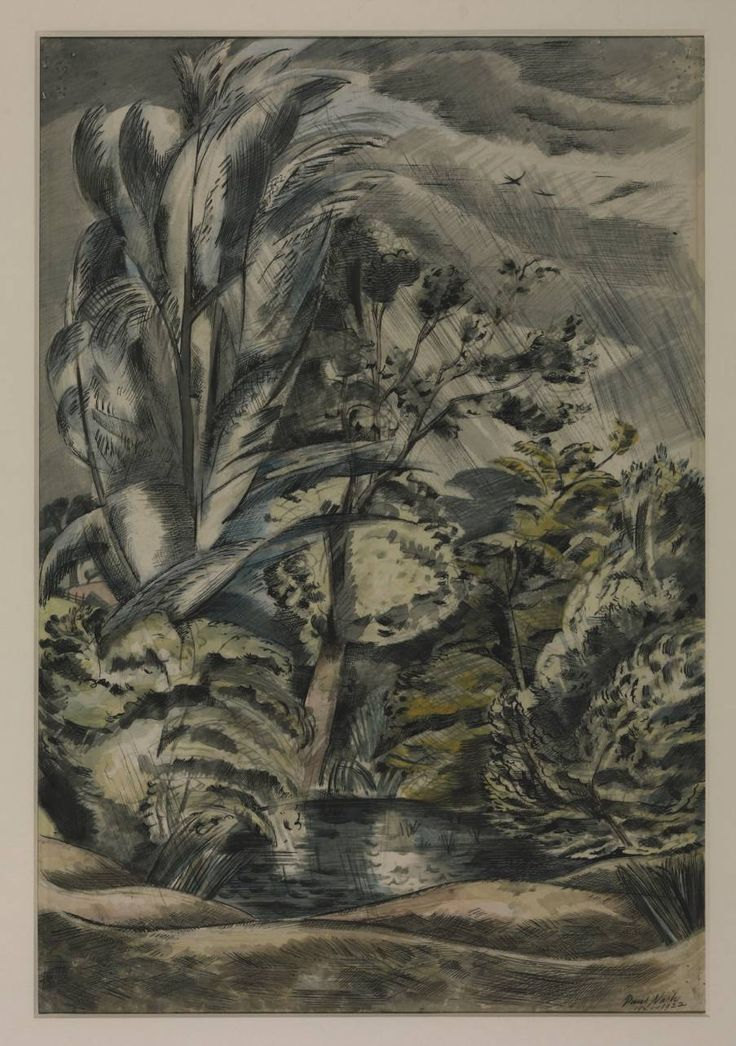 Paul Nash 'Tench Pond in a Gale', 1921–2 © Tate