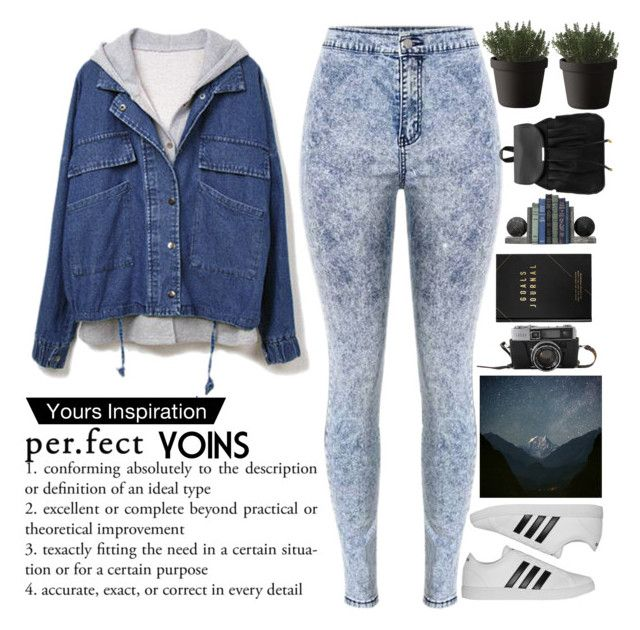 """""""In the world there are things that are better left to yourself.  © Alan Dean Foster. The threshold of the storm YOINS #26"""" by holy-k15 ❤ liked on Polyvore featuring adidas, Muuto, kikki.K, yoins, yoinscollection and loveyoins"""