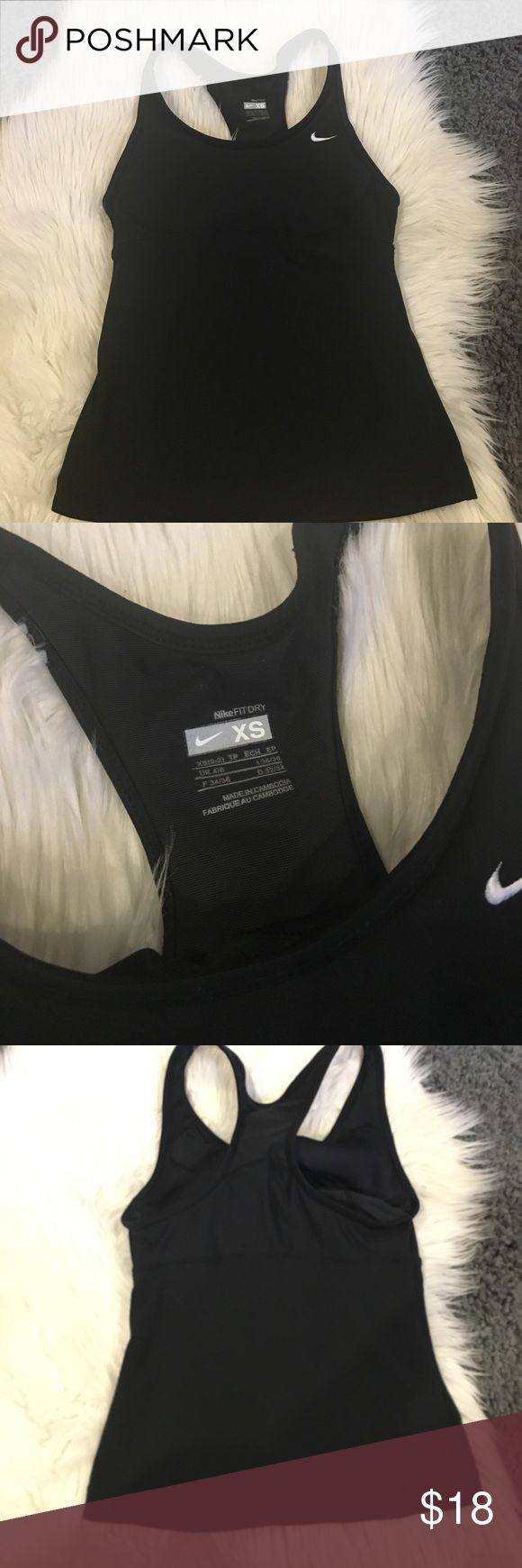 Nike Dri Fit Shirt Nike Dri Fit Shirt with built in sports bra ...Size Xs ... Excellent used condition ...Any question please ask ... Bundle & Save Nike Tops Tank Tops