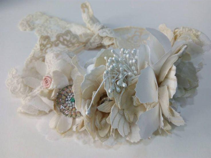 Tocado tiara de novia estilo vintage
