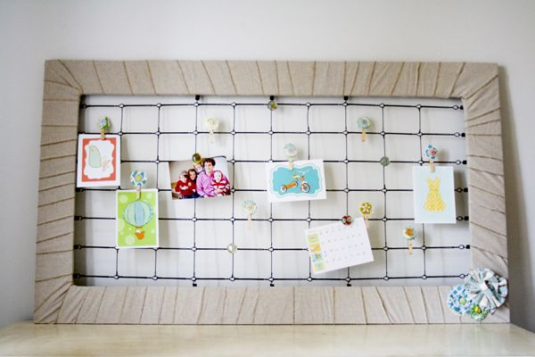 Awesome Memo Board for your walls. -28 Inspirational Ways How to Repurpose Old Baby's Cribs