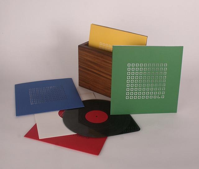 Records & box.