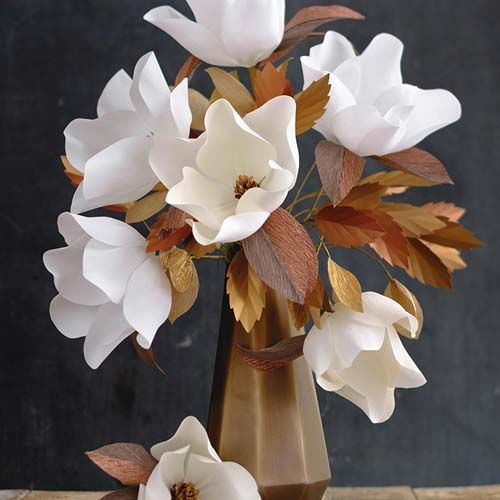 How to Make Crepe Paper Magnolia Bouquet